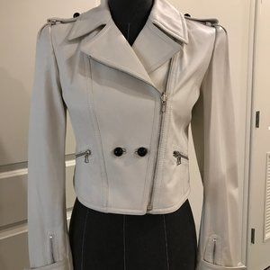 Jason Wu White Leather Moto Jacket